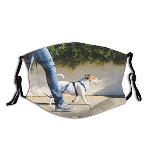 NUFR Dog Walk Exercise Lead Training Harness Pavement Sidewalk Trainer Loose Outside Stride Dust Washable Reusable Filter and Reusable Mouth Warm Windproof Cotton Face