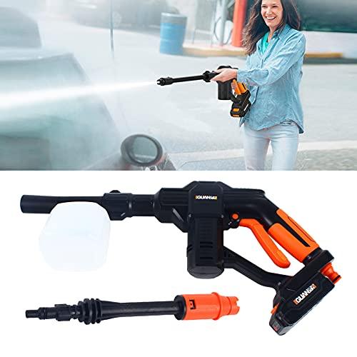 Limpiador de alta presión con batería de 12 V, inalámbrico, portátil, para riego, limpieza de coches, jardines y almacenes.