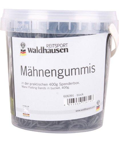 WALDHAUSEN Mähnengummis im Eimer, schwarz, 400 g, schwarz