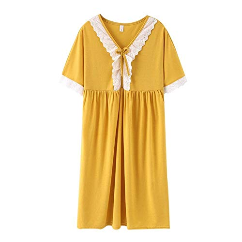 Nachthemd Vrouwelijke Katoenen Zomer Nachtjurk Losse Vet 100 Kg Prinses Stijl Plus Size Nachthemd Vrouwen Nachtkleding M 5Xl