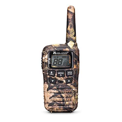 Midland XT30 Mimetica Walkie Talkie Ricaricabili - Set di 2 Radio Ricetrasmittenti a Lunga Distanza, Colore Mimetico - PMR 446, 16 Canali, Raggio 6 KM, 38 Toni, Funzione VOX, Cavo USB