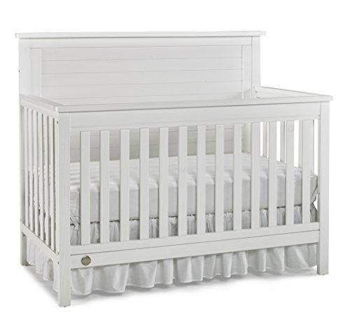 Save %36 Now! Fisher-Price Quinn 4 in 1 Convertible Crib, Wire Brushed White
