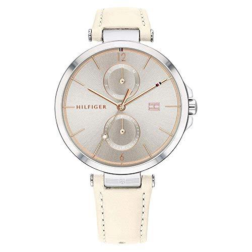 Tommy Hilfiger Reloj Multiesfera para Mujer de Cuarzo con Correa en Cuero 1782123