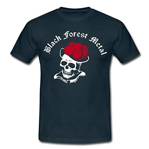 Black Forest Metal Schwarzwald Männer T-Shirt, M, Navy