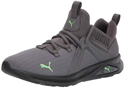 PUMA Men's Enzo 2 Running Shoe, Castlerock Black-Elektro Green, 11.5