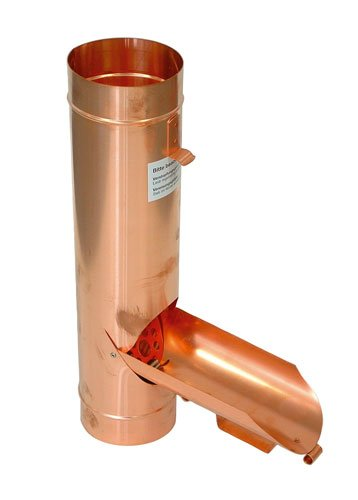 Preisvergleich Produktbild Kupfer Regenwasserklappe mit Sieb Ø 100 mm