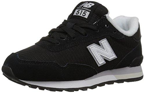 New Balance Jungen 515 Core Sneaker, Schwarz Weiß, 39 EU