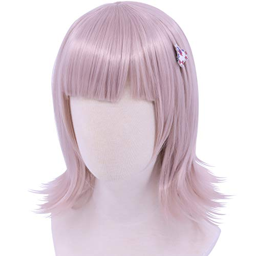 Cf-fashion Danganronpa Nanami ChiaKi Cosplay Wig + Hairpin Synthetic Heat Resistant Women Hair