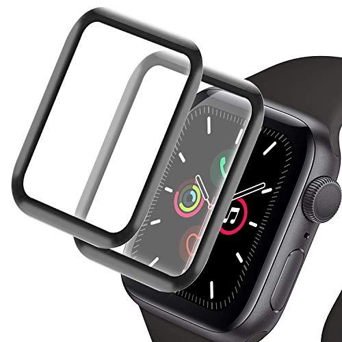 ZMDHL compatible con el cristal templado de la serie Apple Watch 1/2/3, adecuado para cristal templado de 42 mm, protector de pantalla de alta resolución, que no es fácil de plegar.