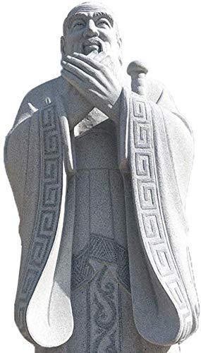 CCDSR Talla de Piedra de mármol Escultura de Confucio una Variedad de estatuas de Piedra Natural Hecho Cultura del Campus Figuras históricas Estatua de mármol de Confucio Imagen Grande Altura2m