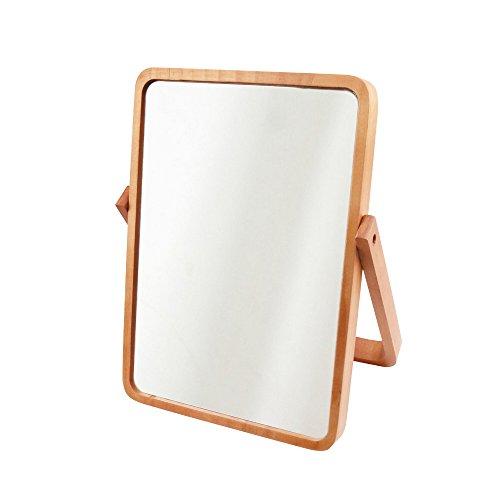 Govee AlierKin Tabletop Vanity Makeup Mirror Rectangle Pine Wood