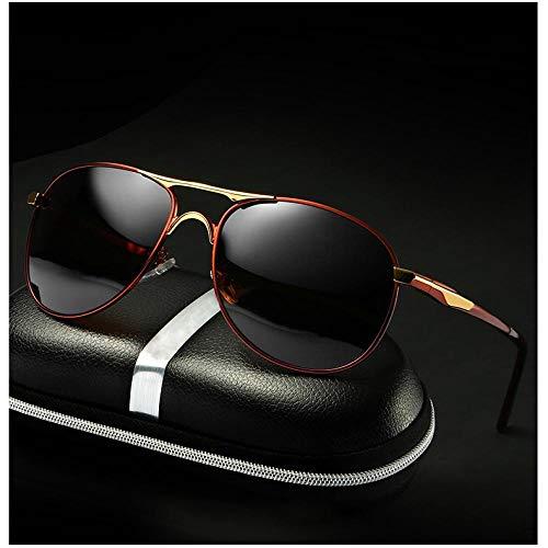 Sunglasses Gafas De Sol De Piloto De Moda Vintage para Hombre De Marca, Gafas De Sol Polarizadas De Marca Clásica, Lentes De Revestimiento, Gafas De Conducción para Hombr