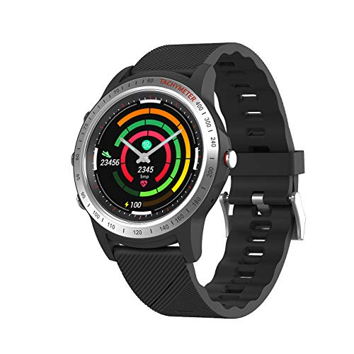 Mombasa Activity Tracker for Men Women with Heart Rate Monitor,2019 New Dual Mode Hybrid Smart Watch+Wrist Watch with Step Tracker Calorie Counter,730days Long Standby Time Waterproof Fitness Tracker
