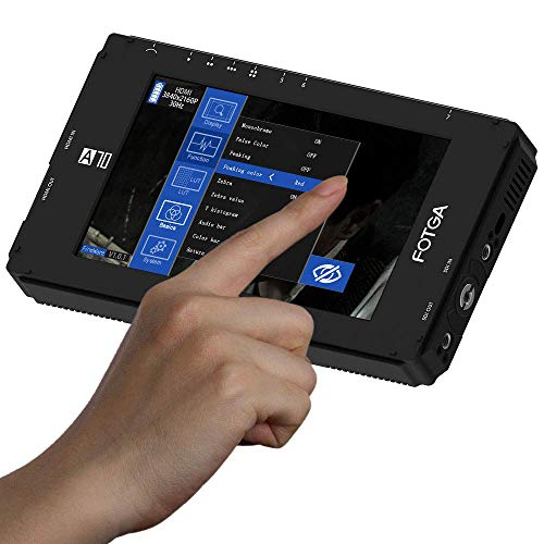 Fotga DP500IIIS A70T Touchscreen Camera Field Monitor Kamera Feldmonitor Video 1920x1080 IPS Full HD, 4K-HDMI-EIN-/Ausgang, Dual NP-F Batterieplatte für spiegellose DSLR-Cinema-Camcorder-Kameras