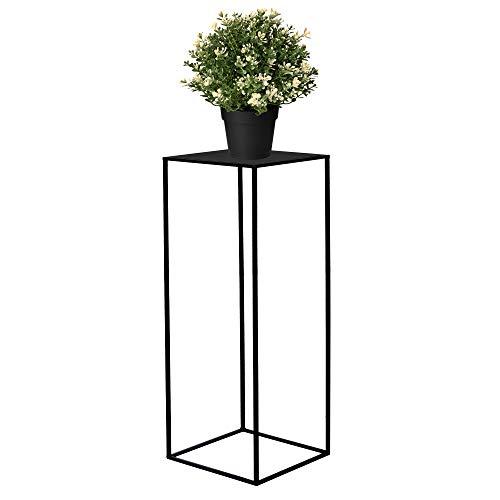 SPRINGOS Blumensäule Pflanzenhocker 60 cm Blumenständer Blumentisch Metall Dekoration Blumentisch Loft Raumgestaltung Haus&Garten (Schwarz)
