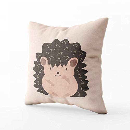 N\A Indoor Outdoor Pillows Covers, Cute Flat Hedgehog Cartocharacter Square Pillowcase Couch Sofa Inch Throw Cushion Cover