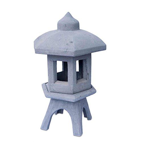 FaHome Linterna de jardín Farol de piedra Comedero 3