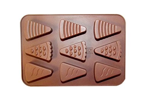 Moule en silicone pour six morceaux à pizza ou gâteaux morceaux, drôles de décoration de gâteaux