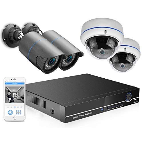 Cámara 4CH 5 MP PoE NVR CCTV Sistema DE Seguridad 4PCS 2.0MP 3.0MP Audio Registro IP Cámara IR 30M P2P Kit de vigilancia de Video al Aire Libre 2TB HDD Vigilancia