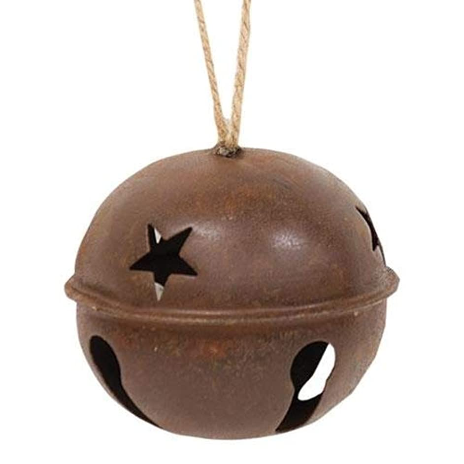 Rusty Extra Large Jingle Bell Star Cut Outs Country Primitive Craft Décor