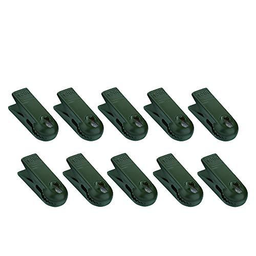 Hellum 983111 Ersatz Klammer/für E10 Kerzen/grün/für Innen- & Außenketten / 10 Stück
