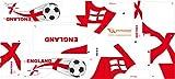 Stickers Adhesivos de Playmyplanet Fútbol Inglaterra Compatibles con Playmobil Bus 5106, 5025, 4419, 5603 Y 3169