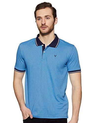 Allen Solly Men's Solid Regular Fit T-Shirt (AMKP1G002454_Light Pink Solid_Medium)