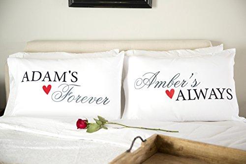 Qualtry Personalized Couples Pillowcases - Romantic and Unique Wedding New Engagement Gifts for Couple   Unique for Parents, Grandparents