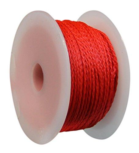 HSI, 325870.0, metselaarspoelen met 50 m nylon, rood, 1,2 mm, 1 stuk