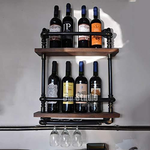 PYROJEWEL Estante del Vino, Soporte de Vidrio Barra de Bar botellero Pared de la Manguera Que cuelga del Vino del Hierro de América del lof, Soporte de exhibición