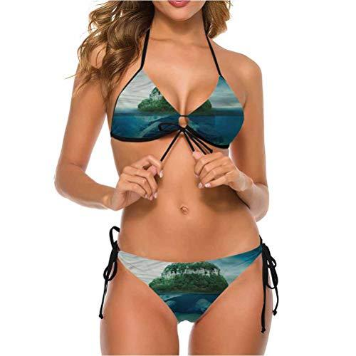 Bikini Swimwear with Cut Out Bottoms Swimwear Turtle Carrying Island