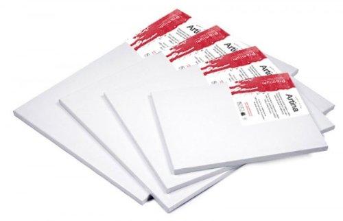 Artina Premium - Set de 5 Piezas - 70x100 cm - Lienzos Blancos para Pintar - con Bastidor 380g/m²