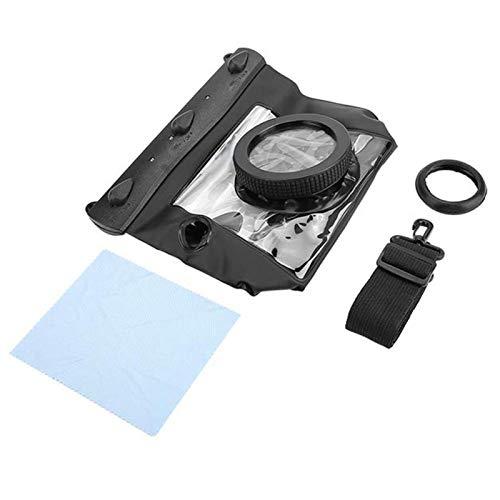 Bolsa para cámara, Tteoobl Submarino Impermeable Dving Estuche Bolsa 20M para cámaras Canon Nikon DSLR(Negro)