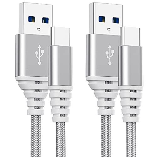 Cable Usb C Carga Rapida,Cable Cargador Tipo C 2M+3M para Samsung A02S A52 A32 A42 A72 5G/S10 Plus A31 A41 A21S,Poco X3 Pro/F3 M3,Huawei P30 Lite,Movil Honor,3+2 Metros,Nylon Trenzado,Datos y Carga