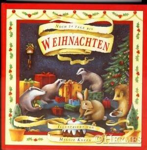 Noch 24 Tage bis Weihnachten. Advents-Kalender.