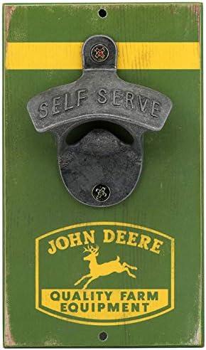 John Deere Green Rustic Bottle Opener 3 5 x 6 product image