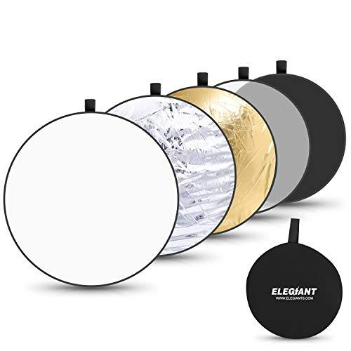 ELEGIANT 110 cm 43 Zoll Live Fotografie Reflektor 5-in-1 Faltbarer tragbarer mit zusammenklappbarer Aufbewahrungstasche
