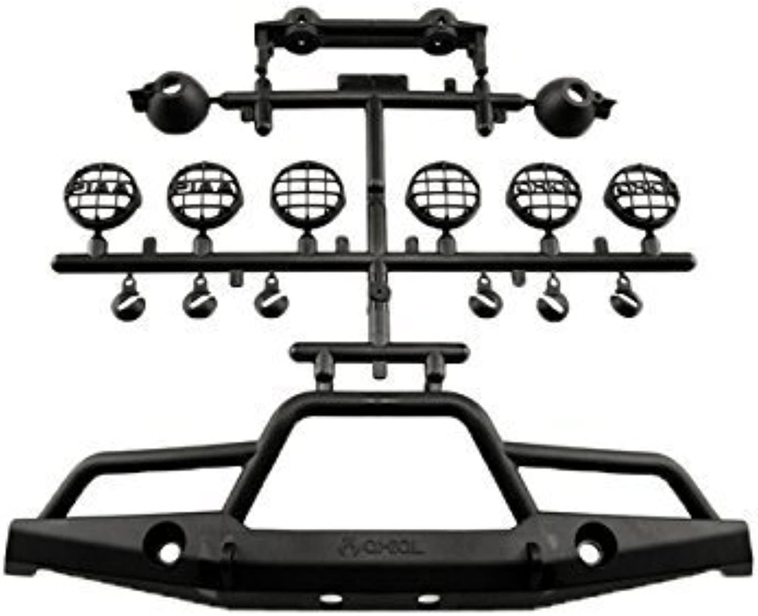 Axial AX80039A Front Plate Bumper Set (1 10 Scale) by Axial