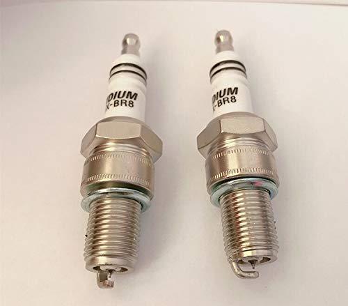 YANAN-スパークプラグ 2個イリジウムスパークプラグEIX-BR8 FOR BR8ES BR8EIX BR8EG BR8ECS BR8ES-11 BR8EV IW01-24 IW24 W24ESR WR4CC WR4CP F8RC RN2C