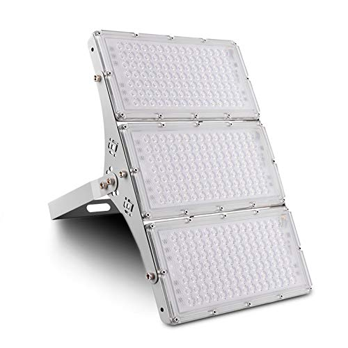 300W Proyector LED Floodlight 24000lm Focos LED Exterior para patio Impermeable IP65 6500K Blanco Frío, Reflector LED para patio, garaje, taller[clase energética A+]