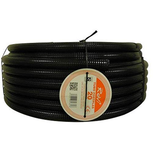 Tubo corrugado 20mm 100m【REFORZADO DE DOBLE CAPA】•【IGNIFUGO】No propagador de llamas • Tubos...