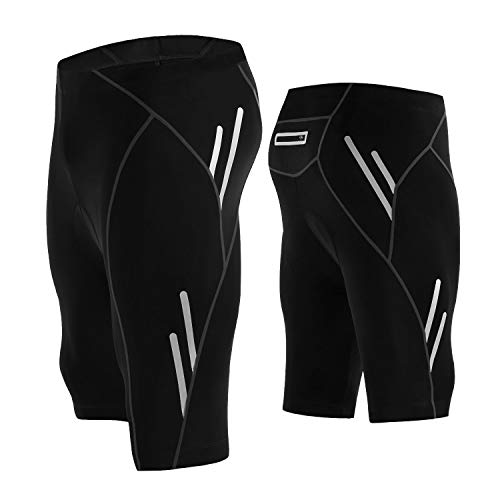 LEGENDFIT Men's Cycling Shorts 4D Padded Bicycle Riding Half Pants Compression Bike Tights...