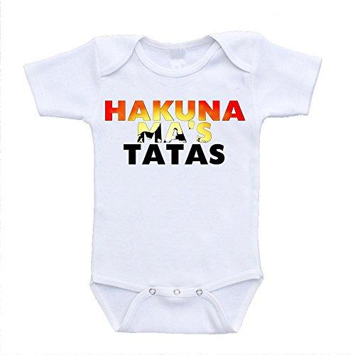 Price comparison product image Hakuna Mas Tatas Ma's Lion King Parody Hilarious Bodysuit Onesies (3-6 Months)