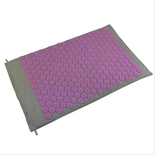 NoNo acupressuurmassageapparaat mat ontspanning stress spanning lichaam yoga mat spike ontlast stress pijnkussen set lila
