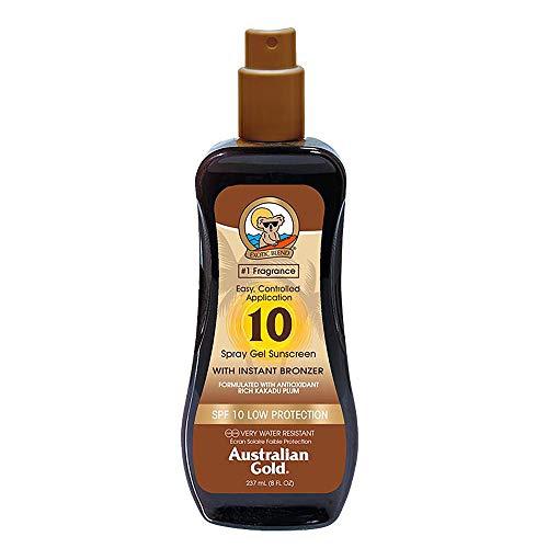 Australian Gold SPF 10, gel spray con Instant Bronzer, 237ml (etichetta in lingua italiana non garantita)