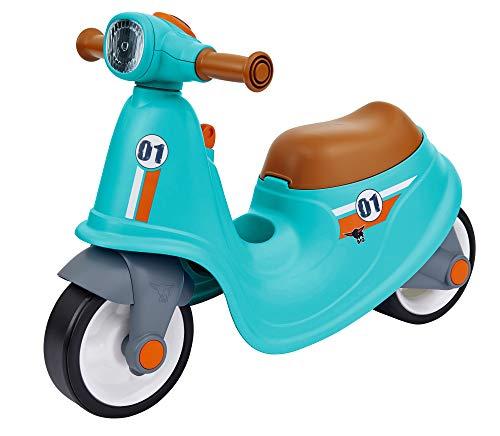 BIG Classic Sport Scooter - Kinder-Laufrad in türkis, echte Rollersounds, robust, hohe Kippsicherheit und formstabil, Räder aus Premium-Softmaterial, für Kinder ab 1,5 Jahren