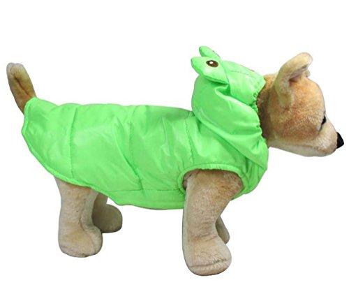 Pegasus rana disfraz de perro abrigo para disfraz de sudadera con capucha resistente al viento pequeño perro ropa