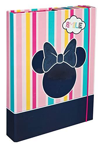Undercover MINE0940 Heftbox A4 mit Spanngummi, Disney Minnie Mouse, ca. 32 x 24 x 4 cm
