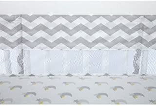Little Love by NoJo Separates Collection Chevron Print Crib Liner, Grey/White