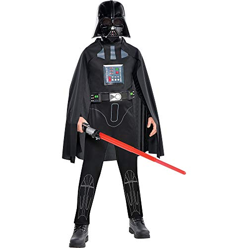 Costumes USA Star Wars Darth Vader Costume Classic for Boys, Medium, Includes Jumpsuit, Breathing Simulator and More